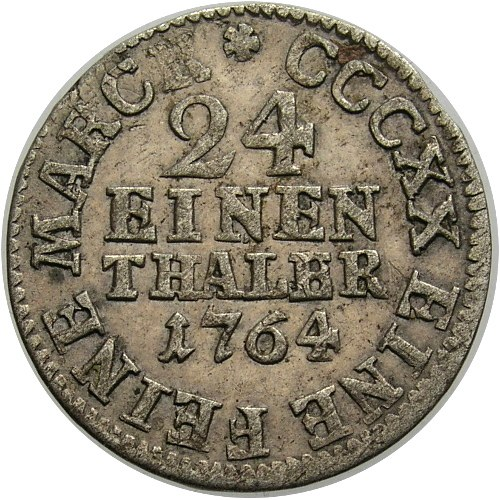 Niemcy, Saksonia, Fryderyk August III 1763-1806, 1/12 talara 1764