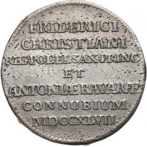 August III Sas 1733-1763, dwugrosz 1747, Drezno.