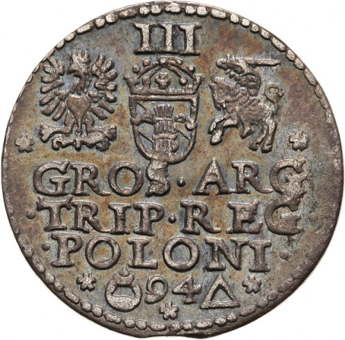 Zygmunt III Waza 1587-1632, trojak 1594, Malbork