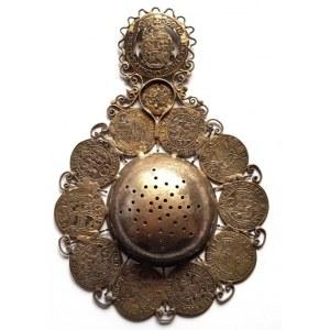 Varia, sitko do herbaty wykonane z monet XVII w.