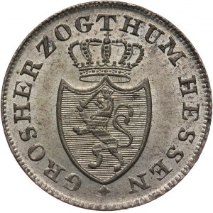 Niemcy, Hessen - Darmstadt, Ludwig II 1830 - 1848, 6 krajcarów 1834, Darmstadt.