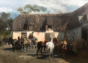 Alfred Wierusz-Kowalski (1849 Suwałki - 1915 Monachium)Rekwizycja, 1875 r.
