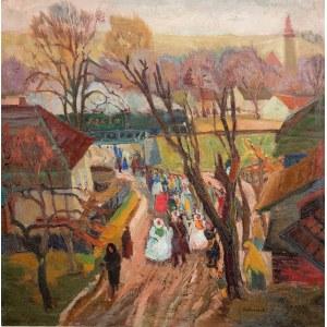 Edward Matuszczak (1906 Tymbark – 1965 Paryż)Procesja w Żywcu