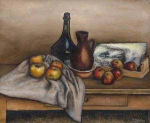 Józef Jarema (1900 Stary Sambor - 1974 Monachium)Martwa natura z jabłkami