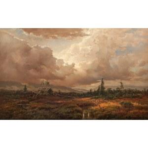 Désiré Thomassin (1858 Wiedeń - 1933 Monachium)Krajobraz przed burzą, 1919r.