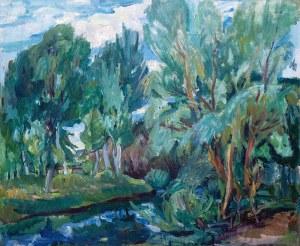 Henryk Epstein (1891 Łódź - 1944 Auschwitz)Pejzaż z drzewami, lata 1935–1940.