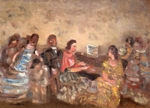 Alfred Aberdam (1894 Lwów – 1963 Paryż)Przy fortepianie