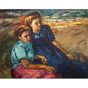 Maurice Vagh-Weinmann (1899 Budapeszt – 1986 tamże)Dwie kobiety na plaży