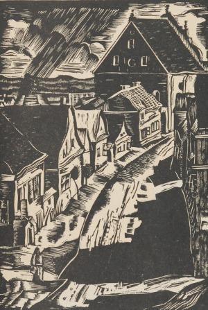 Franciszek BURKIEWICZ  (1910-2002), Sztetl  w Kazimierzu, ok. 1935 r