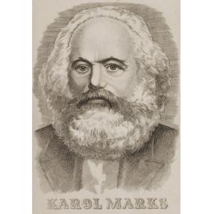 Edward KUCZYŃSKI  (1905-1958), Portret Karola Marksa, ok.1952