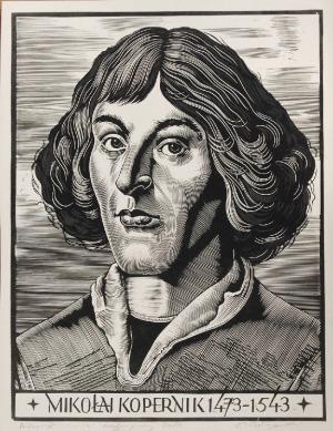 Edward KUCZYŃSKI  (1905-1958), Portret Mikołaja Kopernika, ok. 1950