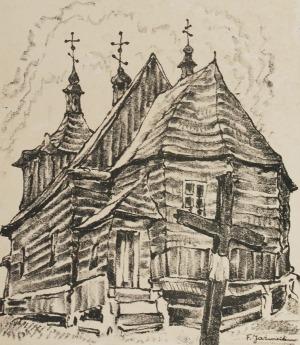 Franciszek JAŹWIECKI (1900-1946), Cerkiew w Komarowie, 1937
