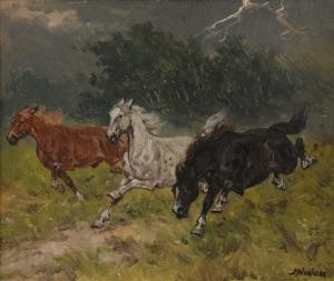 Edward MESJASZ (1929-2007), Pędzące konie