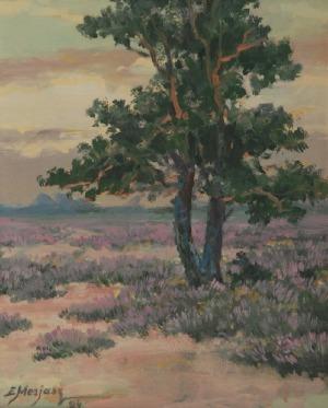 Edward MESJASZ, Pejzaż z drzewem