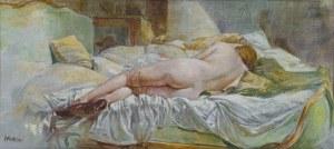 Leszek Żegalski (Ur. 1959), Akt w zielonym łóżku, 2006