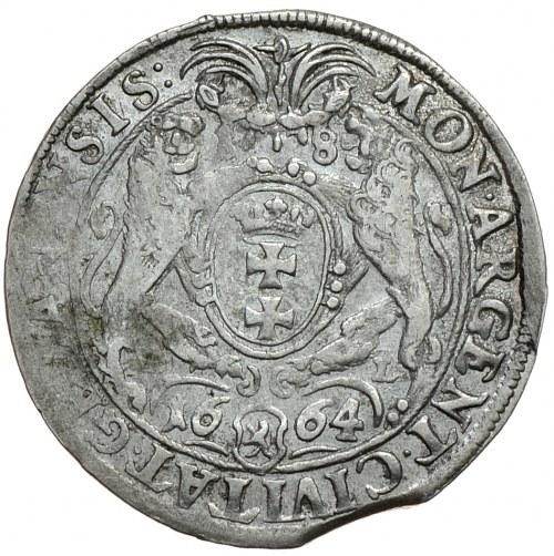 Jan II Kazimierz, ort 1664, Gdańsk