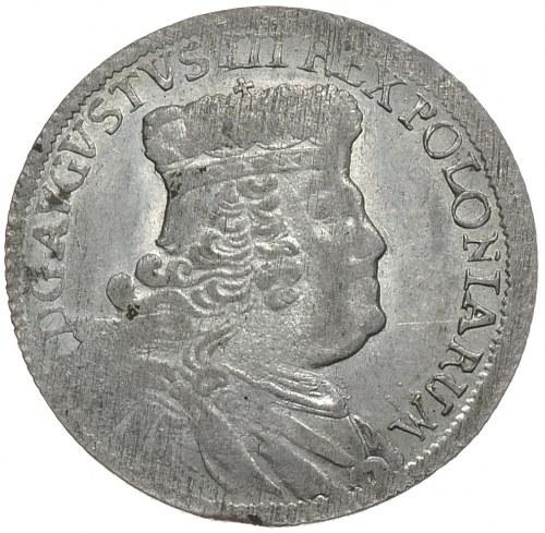 August III, ort 1753 EC, Lipsk, rzadkie popiersie