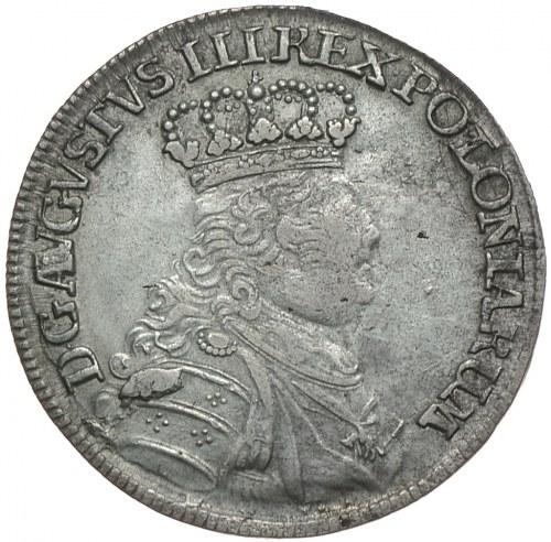 August III, ort 1754 EC, Lipsk, mała głowa