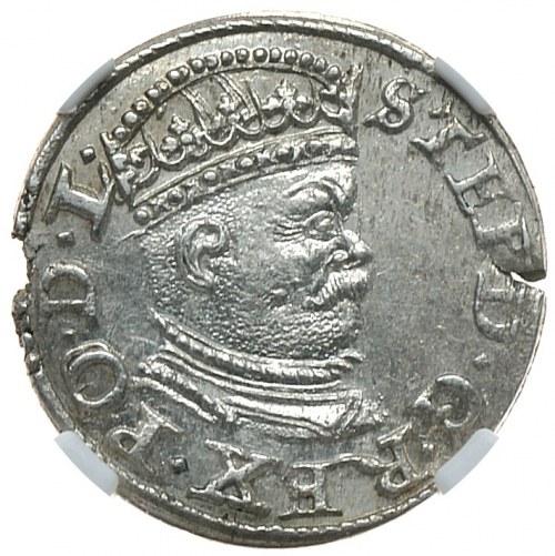 Stefan Batory, trojak 1586, Ryga, mała głowa