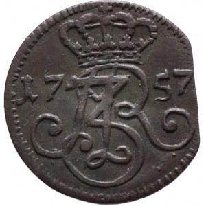 August III, Szeląg 1757, Gdańsk (R2)