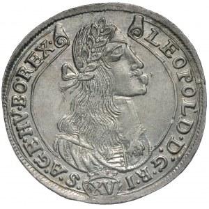 Węgry, Leopold I 1658-1705, 15 krajcarów 1675 KB, Krzemnica
