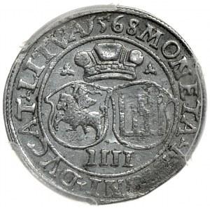 Zygmunt II August, czworak 1568 LI/LITVA, Wilno