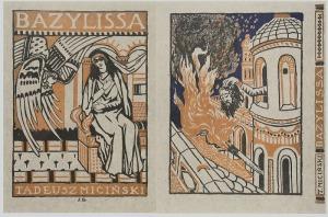 Jan BUKOWSKI (1873-1943), Bazylissa komplet 2 sztuki, 1909