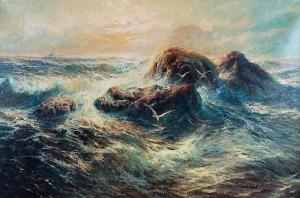 Jan M. KASPROWICZ (1906-1986), Wzburzone morze
