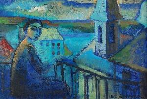 Anna KARPOWICZ-WESTNER (ur. 1951), Na balkonie, 1999/2000