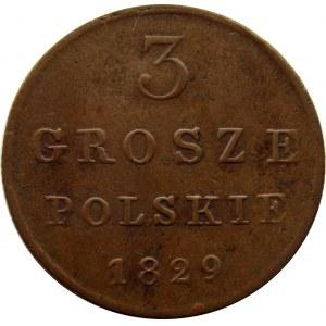 Mikołaj I, 3 grosze 1829 F.H., Warszawa
