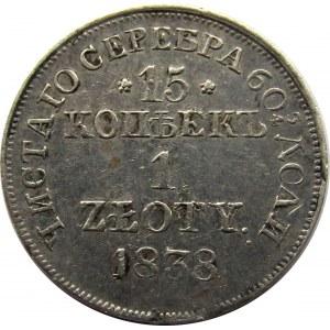 Mikołaj I, 15 kopiejek/1 złoty 1838 MW, Warszawa