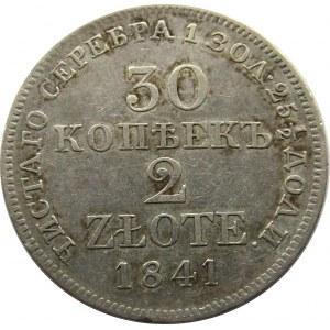 Mikołaj I, 30 kopiejek/2 złote 1841 MW, Warszawa