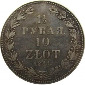 Mikołaj I, 1 1/2 rubla/10 złotych 1841, Warszawa