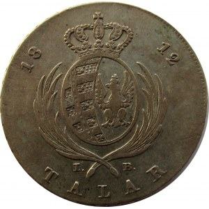 Księstwo Warszawskie, talar 1812 I.B.
