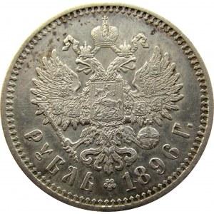 Mikołaj II, 1 rubel 1896 AG, Petersburg