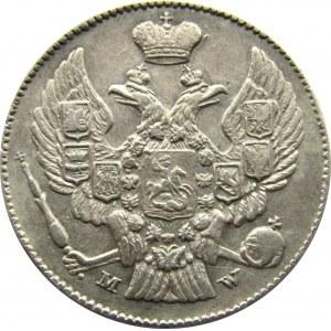 Mikołaj I, 20 kopiejek/40groszy 1842 MW, Warszawa, Rzadkie!