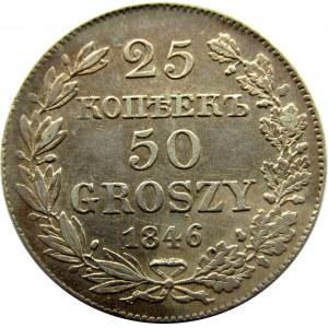 Mikołaj I, 25 kopiejek/ 50 groszy 1846 MW, Warszawa