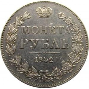Mikołaj I, 1 rubel 1842 MW, Warszawa