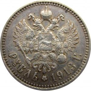 Mikołaj II - rubel 1913 EB Petersburg - rzadki