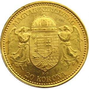 Austro-Węgry, Franciszek Józef I, 20 koron 1892, UNC-