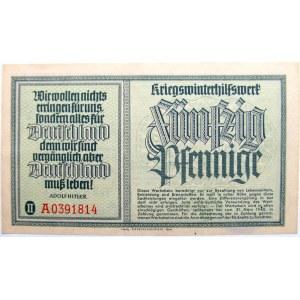Niemcy, Zimowa pomoc wojenna, 50 pfennig 1940, ostemplowany, UNC