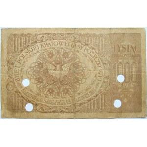 Polska - II RP, 1000 marek 1919, numer 653833, FALSYFIKAT