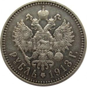 Rosja, Mikołaj II, 1 rubel 1913 EB, Petersburg, rzadki!