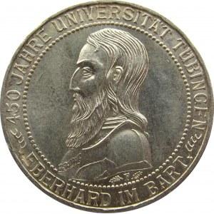 Niemcy, Republika Weimarska, 3 marki 1927 F, Stuttgart, 450 lat Uniwersytetu w Tubingen