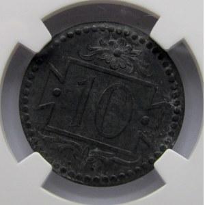 Wolne Miasto Gdańsk, 10 pfennig 1920, NGC MS62