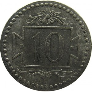 Wolne Miasto Gdańsk, 10 pfennig 1920, odmiana 56 perełek