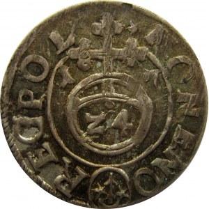 Zygmunt III Waza, półtorak 1617, Bydgoszcz, UNC/UNC-