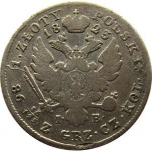 Aleksander I, 1 złoty 1823 I.B., Warszawa, rzadkie
