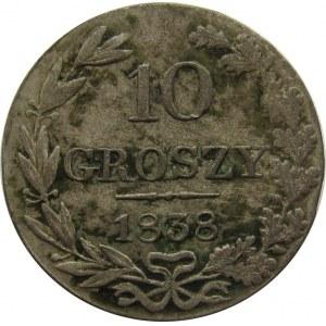 Mikołaj I, 10 groszy 1838 MW, Warszawa