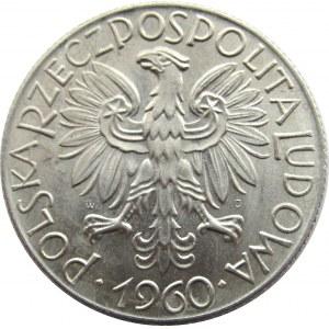 Polska, PRL, Rybak, 5 złotych 1960, UNC